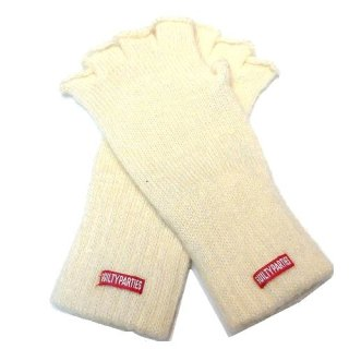 WACKO MARIA WOOL&MOHAIR FINGERLESS GLOVES(ホワイト)