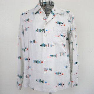 WACKOMARIA 50's BRUSH SHIRT L/S(ホワイト)