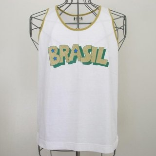 WACKOMARIA BRASIL COLOR TANK TOP(ホワイト/イエロー)