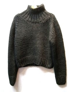 LI HUA Hand-knitting High Neck Pullover(ブラック)