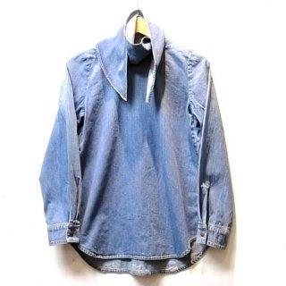 LI HUA Scarf Collar Denim Shirt(インディゴ)