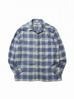 COOTIE Tartan Check Oversized Work Shirt(ブルー)