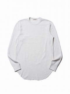 COOTIE Curved Hem Honeycomb Thermal Tee(オフホワイト)