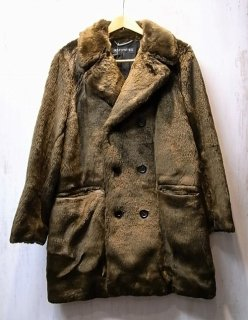 WACKO MARIA FUR DOUBLE BREASTED COAT(ブラウン)