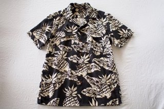 BANKROBBER HAWAIIAN SHIRTS(SHORT SLEEVE)(ブラック)