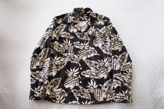 BANKROBBER HAWAIIAN SHIRTS(LONG SLEEVE)(ブラック)