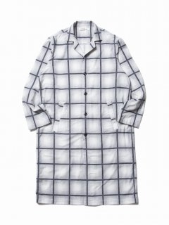 COOTIE Ombre Check Dropped Shoulder Coat(オフホワイト)