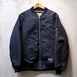 WACKO MARIA MA-1 FLIGHT JACKET -DENIM- ( TYPE-1 )(インディゴ)