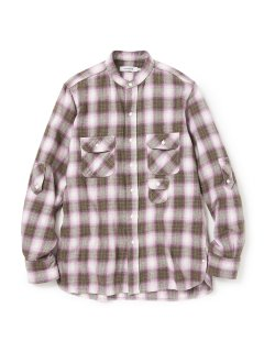 nonnative GARDENER SHIRT COTTON TWILL OMBRE PLAID