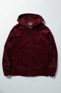 WACKO MARIA VELOUR HOODED JACKET ( TYPE-1 )(バーガンディー)