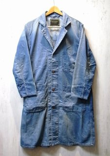 ANACHRONORM 8oz DENIM SHOP COAT(インディゴ AGING WASH)