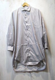 GDC BALLOON WIDE LONG SHIRT(ネイビー)