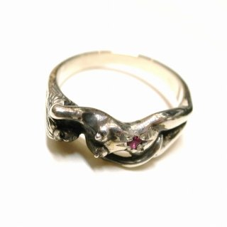 WACKO MARIA NUDE RING JEWEL ( RUBY )(シルバー×ルビー)