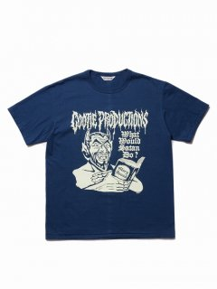 COOTIE Print S/S Tee (WHAT'S WOULD SATAN DO?)(ブルー)
