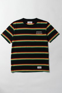 WACKO MARIA STRIPED CREW NECK T-SHIRT ( TYPE-3 )(ラスタ)