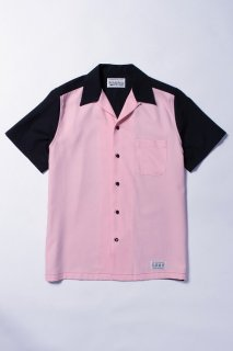 WACKO MARIA TWO-TONE 50'S SHIRT ( TYPE-2 )(ブラック×ピンク)