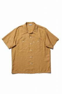 COOTIE Rayon Open-Neck S/S Shirt(マスタード)