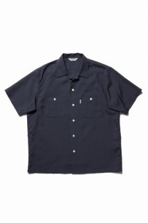 COOTIE Rayon Open-Neck S/S Shirt(チャコール)