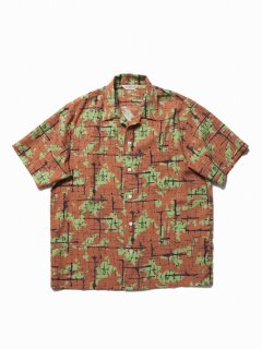 COOTIE Atomic Camouflage S/S Shirt(ブラウン)