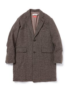 nonnative OFFICER COAT WOOL GLEN PLAID WITH WINDSTOPPER🄬 2L