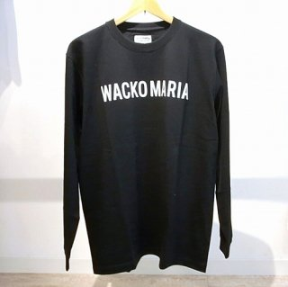 WACKO MARIA CREW NECK LONG SLEEVE T-SHIRT ( TYPE-2 )(ブラック)