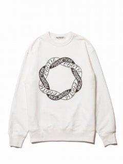 COOTIE Print Crewneck L/S Sweatshirt-2(オフホワイト)