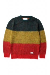 WACKO MARIA STRIPED MOHAIR SWEATER(ラスタ)