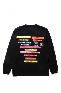 WACKO MARIA CREW NECK LONG SLEEVE T-SHIRT ( TYPE-5 )(ブラック)