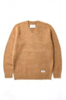 WACKO MARIA V NECK MOHAIR SWEATER(キャメル)