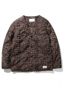 WACKO MARIA CROCODILE QUILTED JACKET ( TYPE-1 )(ブラウン)