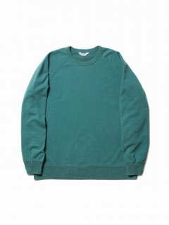 COOTIE Crewneck L/S Sweatshirt (Used Wash)(ターコイズ)
