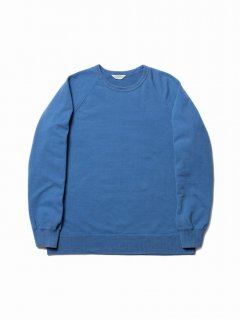 COOTIE Crewneck L/S Sweatshirt (Used Wash)(ブルー)