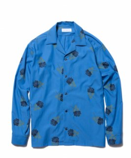 ROTTWEILER Rose Open Collar LS Shirt