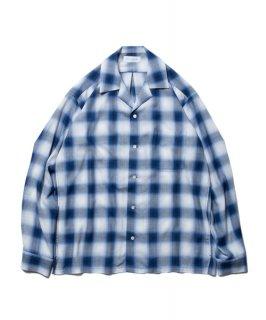 ROTTWEILER Rayon Check Open Collar LS Shirt