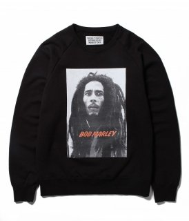 WACKO MARIA BOB MARLEY × WACKO MARIA WASHED HEAVY WEIGHT CREW NECK SWEAT SHIRT ( TYPE-2 )(ブラック)