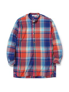 nonnative SCIENTIST PULLOVER LONG SHIRT R/P MADRAS PLAID