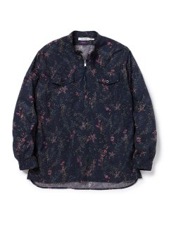 nonnative WORKER PULLOVER SHIRT RELAXED FIT COTTON LAWN LIBERTY🄬 PRINT