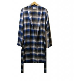WACKO MARIA CALIFORNIA CHECK GOWN COAT