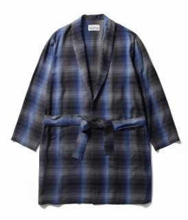 WACKO MARIA 60'S OMBRAY CHECK GOWN COAT
