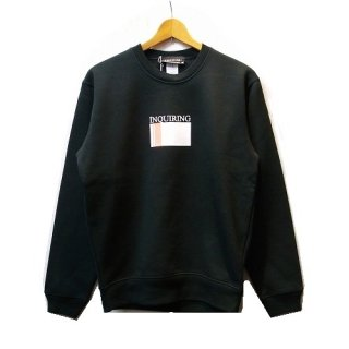 INQUIRING STRIPE WINDOW LOGO CREW NECK