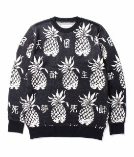 WACKO MARIA PINEAPPLE JACQUARD SWEATER