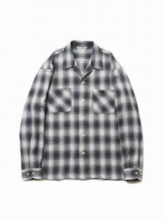 COOTIE Ombre Check Open-Neck L/S Shirt