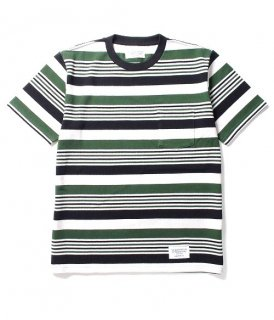 WACKO MARIA STRIPED CREW NECK T-SHIRT ( TYPE-4 )