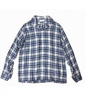 ROTTWEILER Rayon Check Open Collar LS Shirt(ライトブルー)