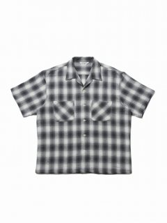 COOTIE Ombre Check Open-Neck S/S Shirt