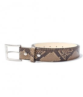 WACKO MARIA PYTHON LEATHER BELT