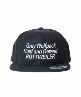 ROTTWEILER Gray Wolfpack Snapback