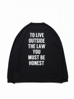 COOTIE Print L/S Tee (TO LIVE OUTSIDE THE LAW)