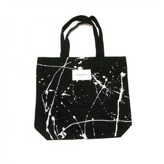 INQUIRING  CANVAS BAG DRIPPED(BLACK)