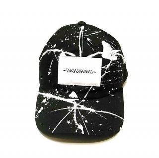 INQUIRING  BASEBALL CAP DRIPPED(BLACK)